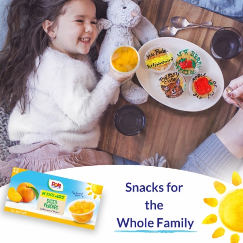 Dole Diced Peaches in 100% Fruit Juice Cups Perspective: right