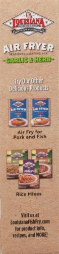 Louisiana Fish Fry Air Fryer Garlic & Herb Seasoned Coating Mix Perspective: right