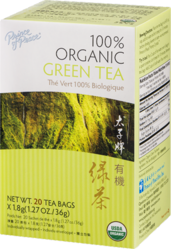 Prince of Peace 100% Organic Green Tea Bags Perspective: right