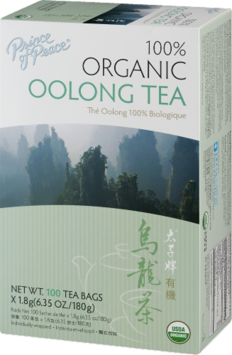 Prince of Peace 100% Organic Oolong Tea Bags Perspective: right