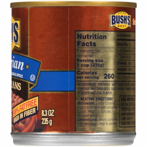 Bush's Best Vegetarian Baked Beans Perspective: right