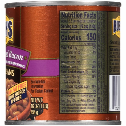 Bush's Best® Maple Cured Bacon Baked Beans Perspective: right