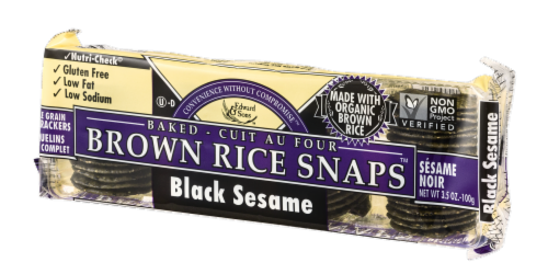 Edward & Sons Black Sesame Brown Rice Snaps Perspective: right