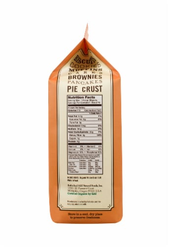 Bob's Red Mill Organic Whole Wheat Pastry Flour Perspective: right