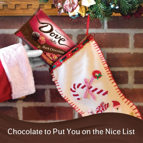 DOVE PROMISES Holiday Gifts Dark Chocolate Christmas Candy Perspective: right