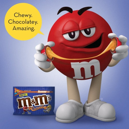 M&M's Caramel Chocolate Candy Perspective: right