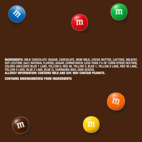 M&M'S Milk Chocolate Candy, 38-Ounce Party Size Bag Perspective: right