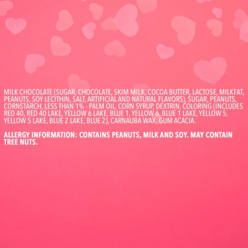 M&M'S Milk Chocolate Peanut Valentine Candy Bag Perspective: right