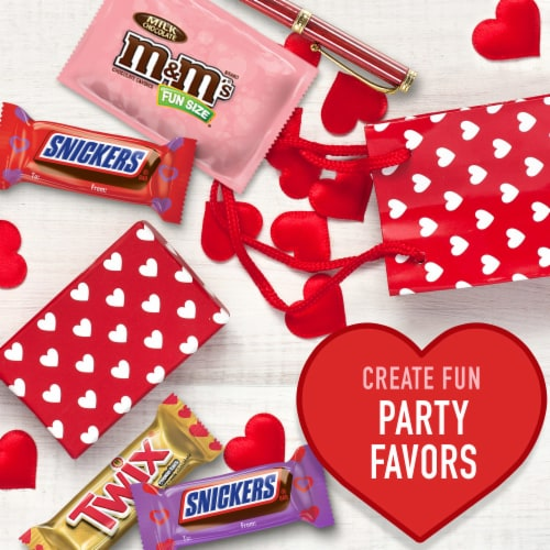 SNICKERS TWIX M&M'S Assorted Valentines Chocolate Candy Bag Perspective: right