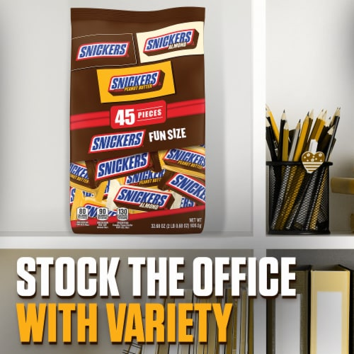 SNICKERS Chocolate Candy Bars Fun Size Variety Mix Perspective: right