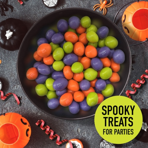 M&M's Ghoul's Mix Milk Chocolate Halloween Candy Perspective: right