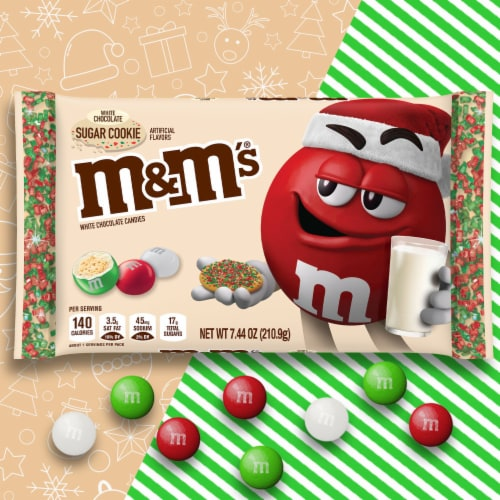 M&M'S Holiday White Chocolate Sugar Cookie Christmas Candy Perspective: right