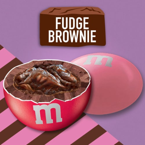 M&M'S Fudge Brownie Chocolate Valentine Candy Bag Perspective: right