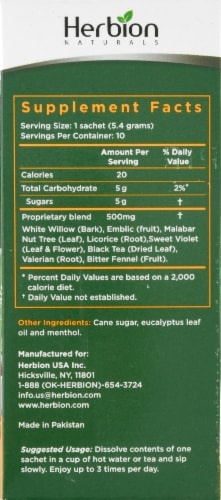 Herbion Respiratory Care Herbal Granules Sachets 10 Count Perspective: right
