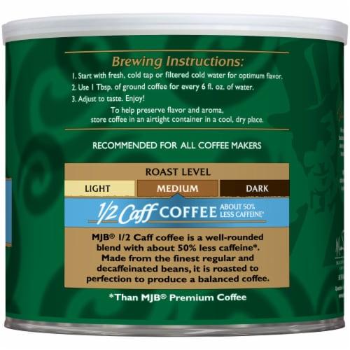 MJB Half Caffeine Ground Coffee Perspective: right