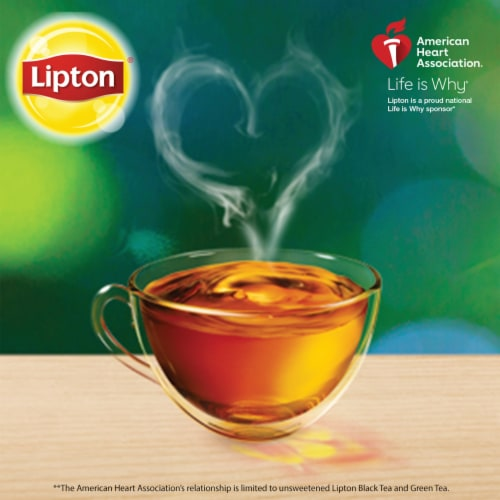 Lipton Unsweetened Decaffeinated Black Iced Tea Bags Family Size Perspective: right
