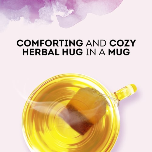 Lipton® Stress Therapy Cinnamon Chamomile & Lavender Caffeine Free Herbal Supplement Tea Bags Perspective: right