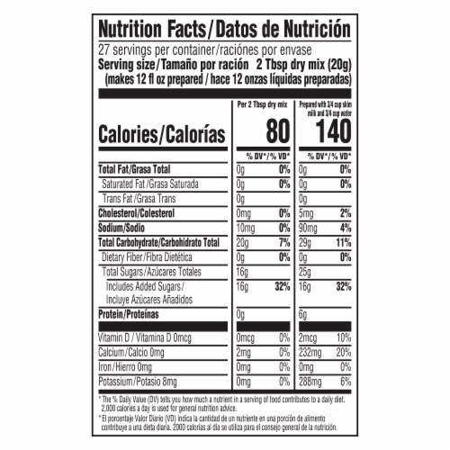 Lipton Aguas Frescas Horchata Sweetened Drink Mix Perspective: right