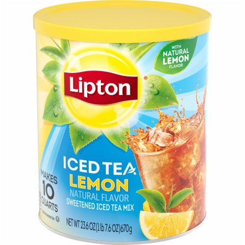 Lipton Lemon Sweetened Iced Tea Mix Perspective: right