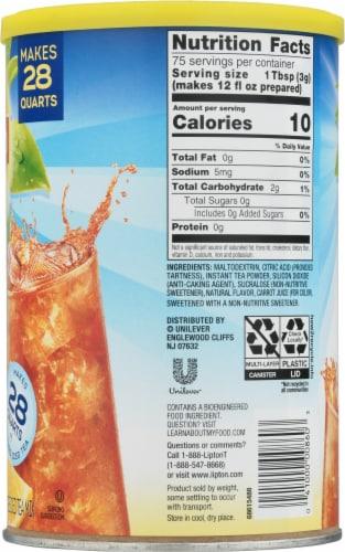 Lipton Lemon Zero Sugar Ice Tea Mix Perspective: right