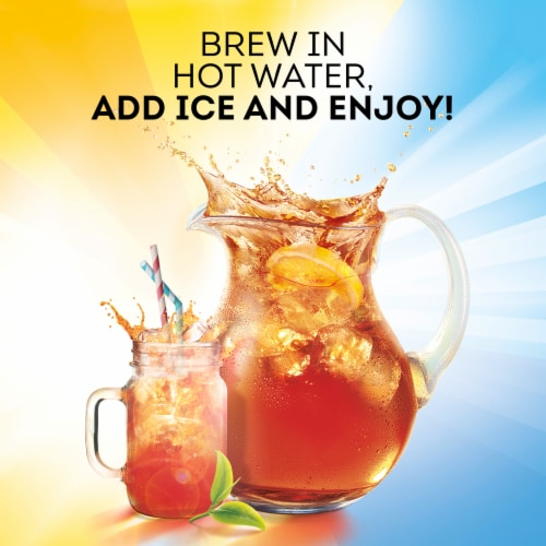 Lipton Southern Sweet Family-Sized Iced Tea Bags Perspective: right