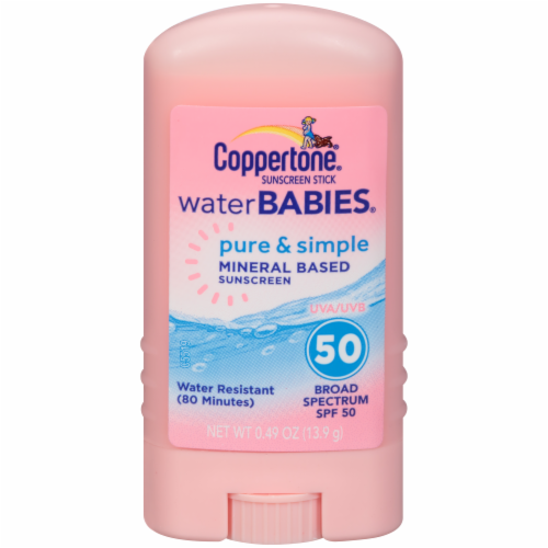 Coppertone Water Babies Pure & Simple Sunscreen Stick SPF 50 Perspective: right
