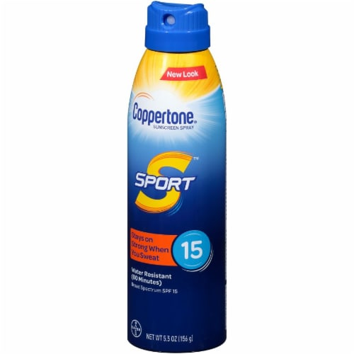 Coppertone Sport Sunscreen Spray SPF 15 Perspective: right