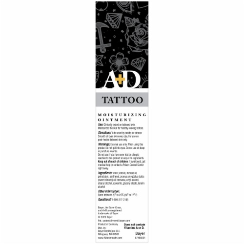 A&D Tattoo Moisturizing Ointment Perspective: right