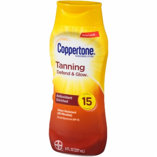 Coppertone Tanning Sunscreen Lotion SPF 15 Perspective: right