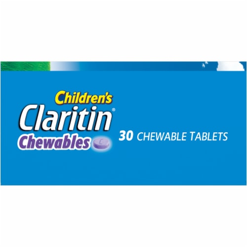 Children's Claritin 24 Hour Non-Drowsy Indoor & Outdoor Allergy Relief Grape Chewable Tablets Perspective: right