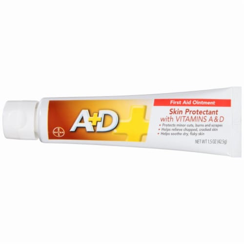 A+D First Aid Ointment Moisturizing Skin Protectant for Dry Cracked Skin/Hands 1.5 oz Perspective: right