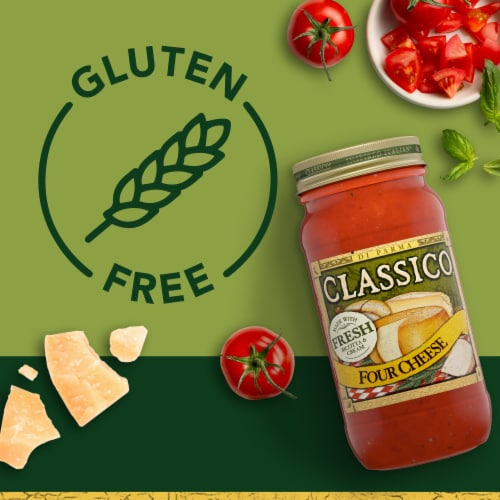 Classico Four Cheese Pasta Sauce Perspective: right