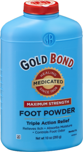Gold Bond Medicated Maximum Strength Foot Powder Perspective: right