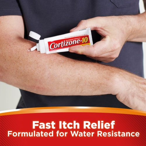 Cortizone 10® Maximum Strength Anti-Itch Ointment Perspective: right