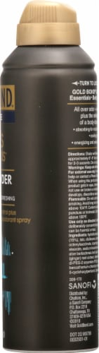Gold Bond Ultimate Men's Essentials Body Powder Spray Nightfall Scent Perspective: right