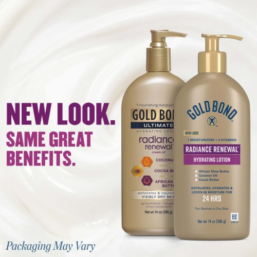 Gold Bond® Ultimate Radiance Renewal for Visibly Dry Skin Cream Oil Body Lotion Perspective: right