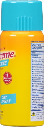 Aspercreme with Lidocaine Spray Perspective: right