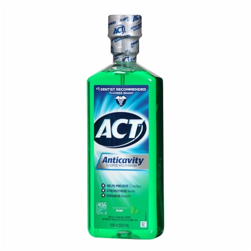 ACT Mint Anticavity Flouride Mouthwash Perspective: right