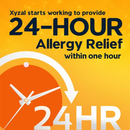 Xyzal® 24 Hour Allergy Relief 5mg Tablets Perspective: right