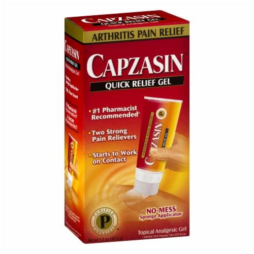 Capzasin™ No Mess Sponge Applicator Quick Relief Analgesic Gel Perspective: right