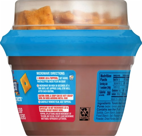 Progresso Toppers Tomato Basil Soup with Cheddar Crackers Perspective: right