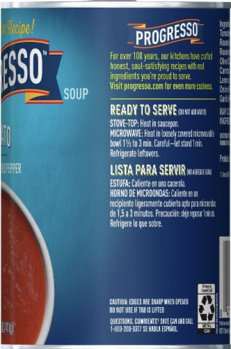 Progresso Tomato with Roasted Red Pepper Soup Perspective: right