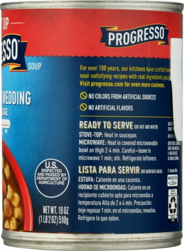 Progresso Spicy Italian Style Wedding Soup with Italian Sausage Perspective: right