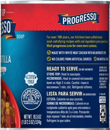 Progresso Spicy Chicken Tortilla Soup Perspective: right