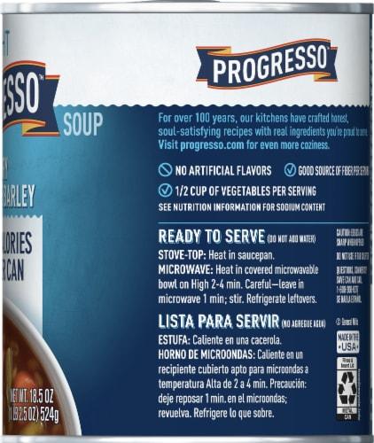 Progresso Light Savory Vegetable Barley Soup Perspective: right