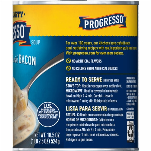 Progresso Rich & Hearty Loaded Potato with Bacon Soup Perspective: right