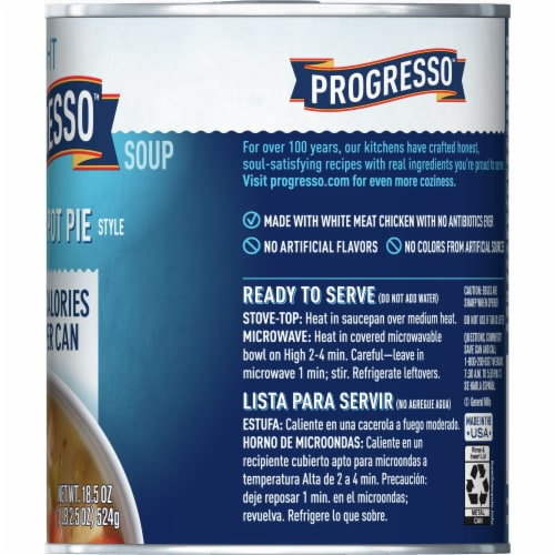 Progresso Light Chicken Pot Pie Style Soup Perspective: right