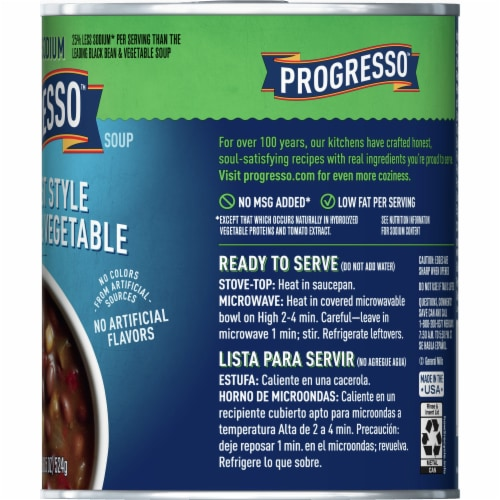 Progresso Reduced Sodium Southwest Style Black Bean & Vegetable Soup Perspective: right