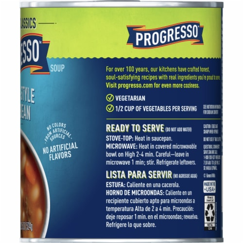 Progresso Vegetable Classics Tuscan-Style White Bean Soup Perspective: right