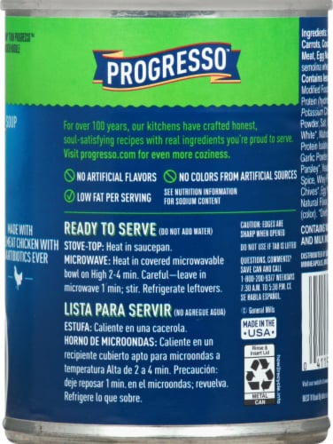 Progresso Reduced Sodium Roasted Chicken Noodle Soup Perspective: right